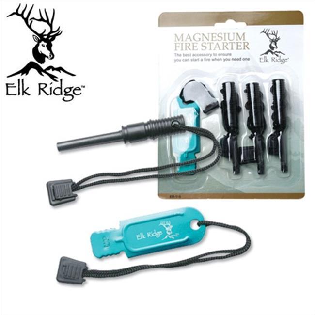 ER115 Elk Ridge Magnesium Fire Starter Set, 4 Piece by Grey Eagle Traders