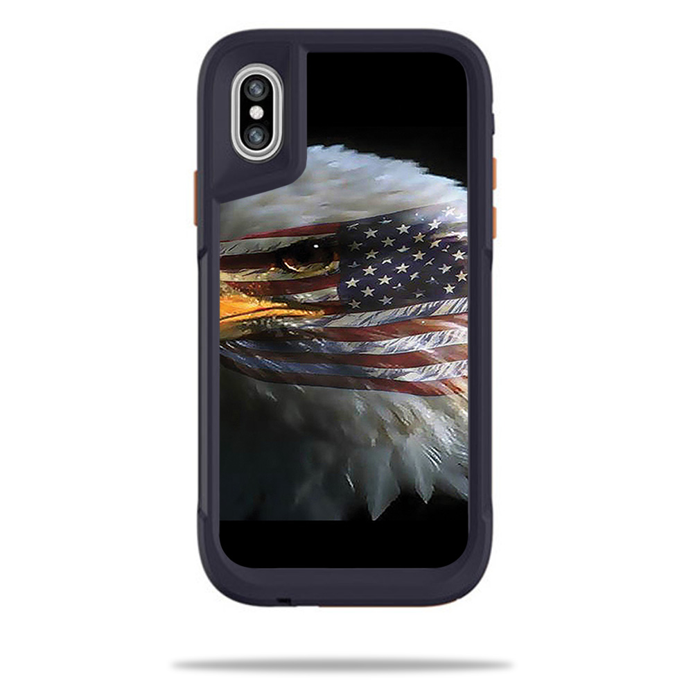 MightySkins Skin For OtterBox Pursuit iPhone X - America Strong | Protective, Durable, and Unique Vinyl Decal wrap cover | Easy To Apply, Remove, and Change Styles | Made in the USA