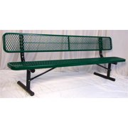 8 ft. Portable Bench in Green Finish