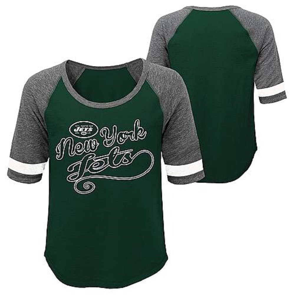 Womens Raglan Tee-Shirt - New York Jets Size 11-13