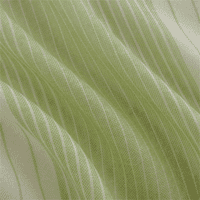 Pear Green/Ivory JR Scott Wool Stripe Drapery Fabric, Fabric By the Yard