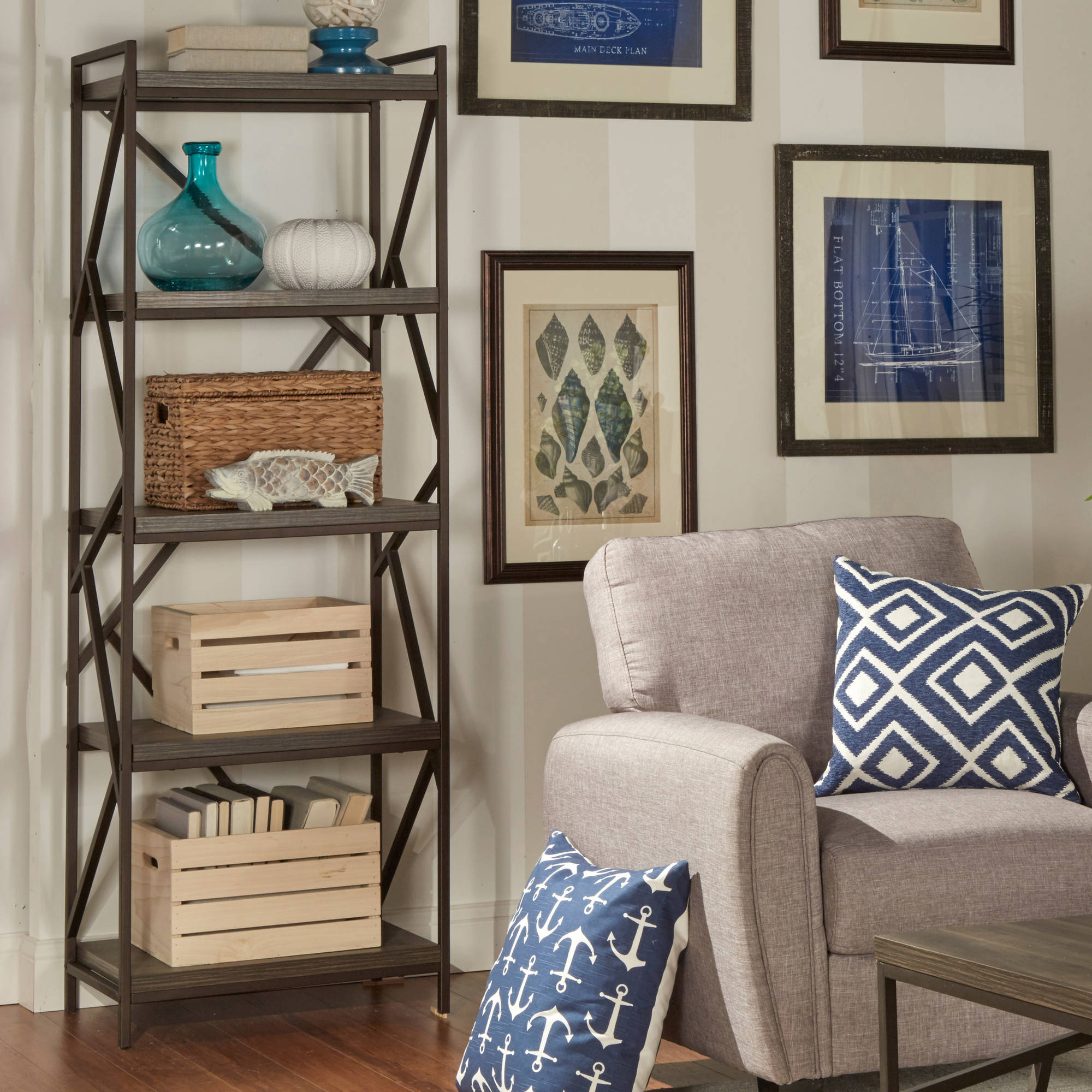 Weston Home Elements Book Shelf Media Tower