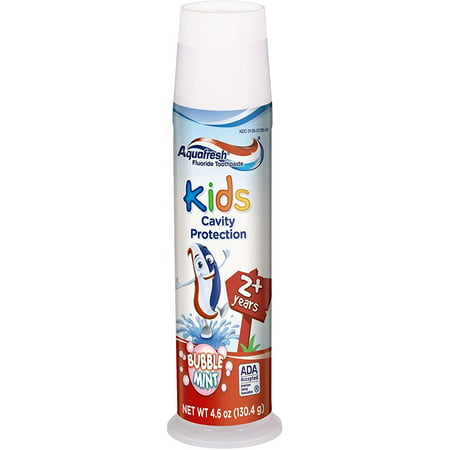 Body Toothpaste (Aquafresh Fluoride Toothpaste Kids Cavity Protection Bubble Mint, 4.6)