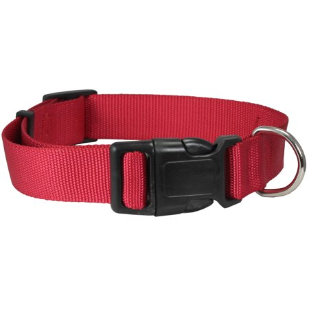 Classic Quick Release (Classic Strong Solid Red Color Adjustable Quick Release Nylon Dog Collar 3)