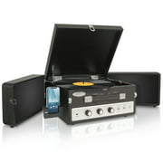 PYLE PLTTB8UI - Classical Vinyl Turntable Record Player With PC Encoding/iPod Player/AUX Input & Dual Fold-Out Speaker System