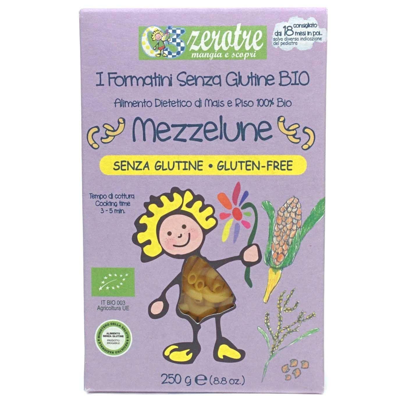 ZeroTre Organic Gluten Free Mezzelune Rice Pasta, 8.8 oz