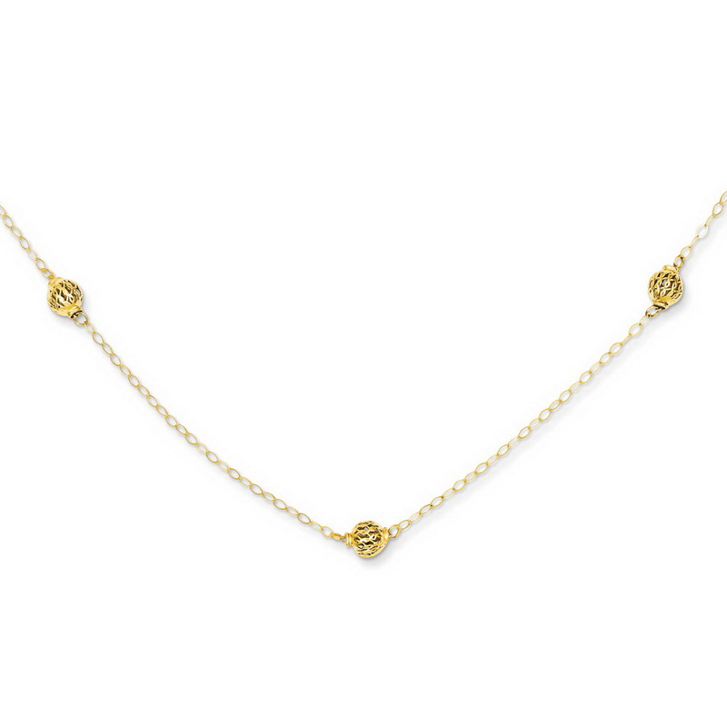 Leslies Real 14kt Yellow Gold .6 mm Boston Link Chain; 20 inch