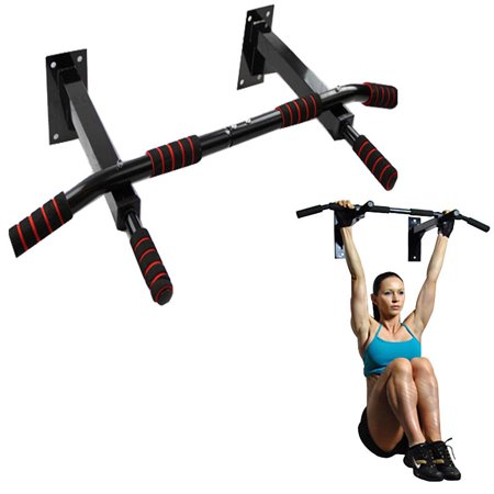 Zimtown Optimized Multi Pull Up Bar, Door Frame/Wall Mounted Chin Up Bar, for Home Gym Fitness Exercise, Strengthen Shoulders, Back, Arms, abs (Door Mount Pull Up Bar)