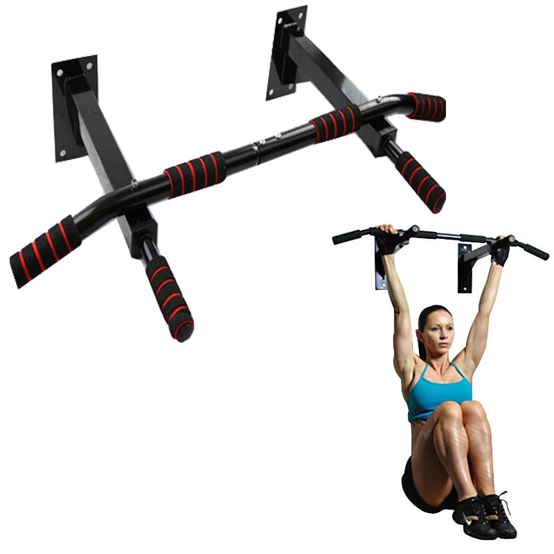 Zimtown Optimized Multi Pull Up Bar, Door Frame/Wall Mounted Chin Up Bar, for Home Gym Fitness Exercise, Strengthen Shoulders, Back, Arms, abs