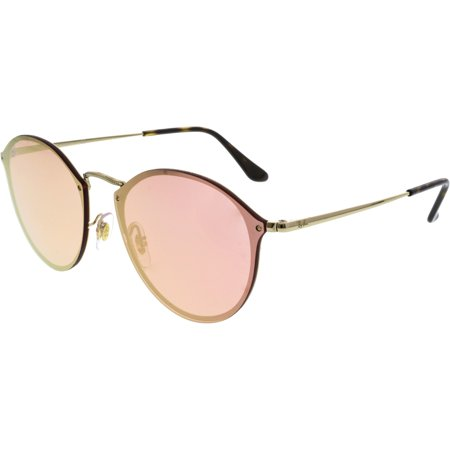 eac1a3c152 Ray-Ban Women s Polarized Blaze Round RB3574N-001 E4-59 Gold Sunglasses ...
