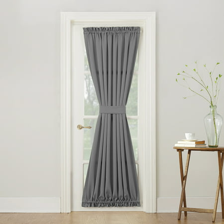 Sun Zero Bartlett Rod Pocket Room Darkening Curtain Door Panel](Curtains For Door)