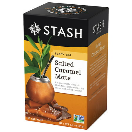 Caramel French Tea - (2 Boxes) Stash Tea Salted Caramel Mate Black Tea, 18 Ct, 1.2 Oz