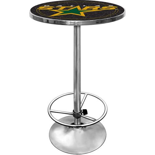 "Trademark NHL Dallas Stars 42"" Pub Table, Chrome"