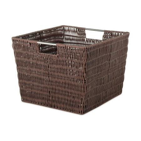 Whitmor Rattique Storage Tote Java