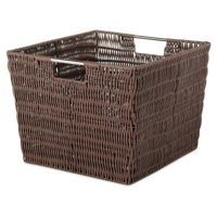 Whitmor Rattique Storage Tote Basket - Java - 13 x 15 x 9.8