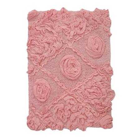 Modesto Bath Rug 17X24 Pink