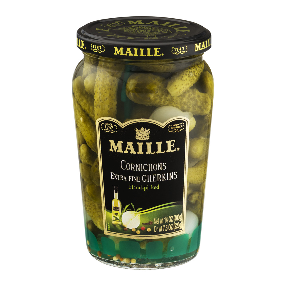 Maille Cornichons Extra Fine Gherkins Hand-Picked, 14.0 OZ