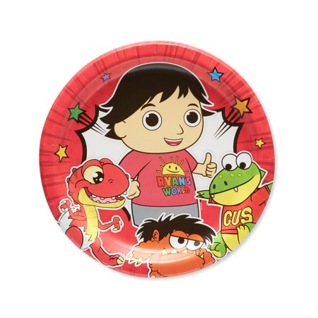 American Greetings Ryans World Paper Dinner Plates, 8-Count