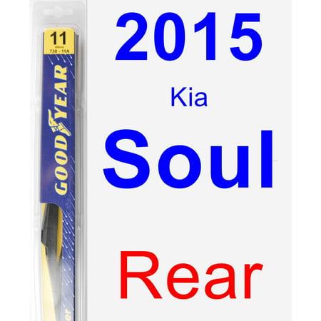 2015 Kia Soul Rear Wiper Blade - Rear