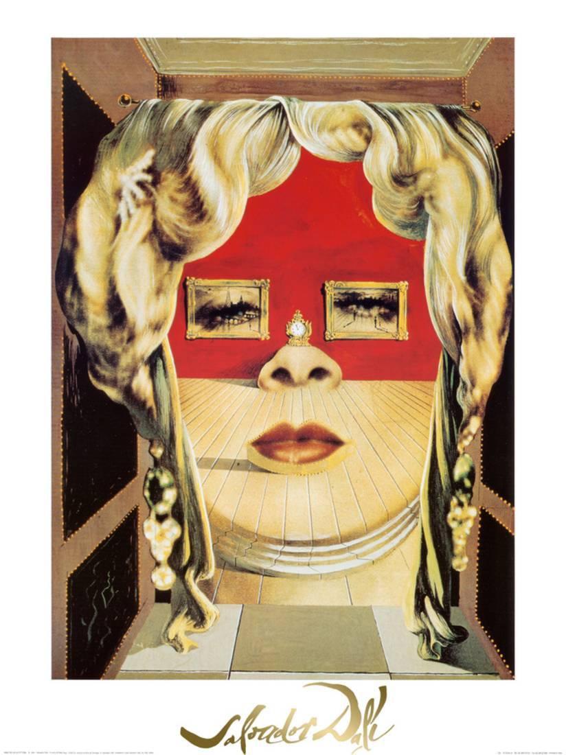 Face of Mae West, c.1935 Art Print By Salvador Dalí - 23.5x31.5 ...