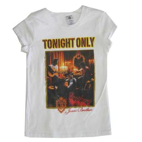 "Jonas Brothers Girls White ""Tonight Only"" Scene Printed T-Shirt 7-16"
