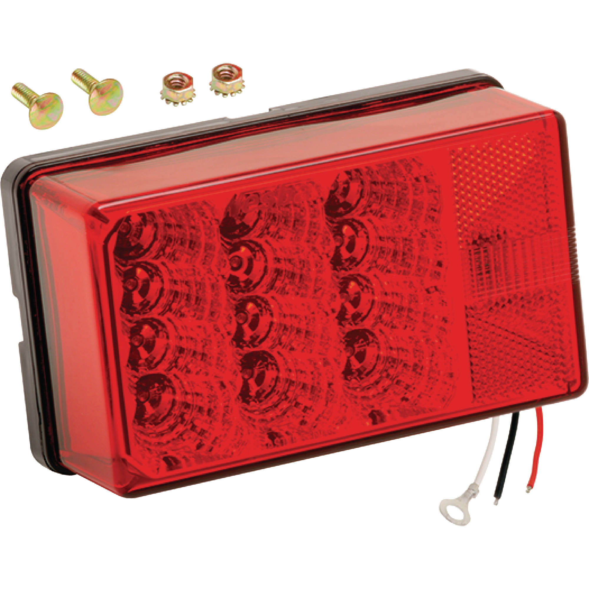 "WESBAR 4""X6"" WATERPROOF LED 8-FUNCT TAIL LIGHT LEFT 80"""