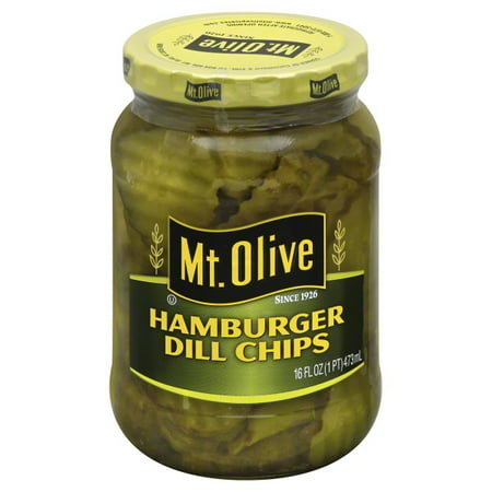 Mt. Olive Hamburger Dill Chips Pickles 16 fl. oz. Jar