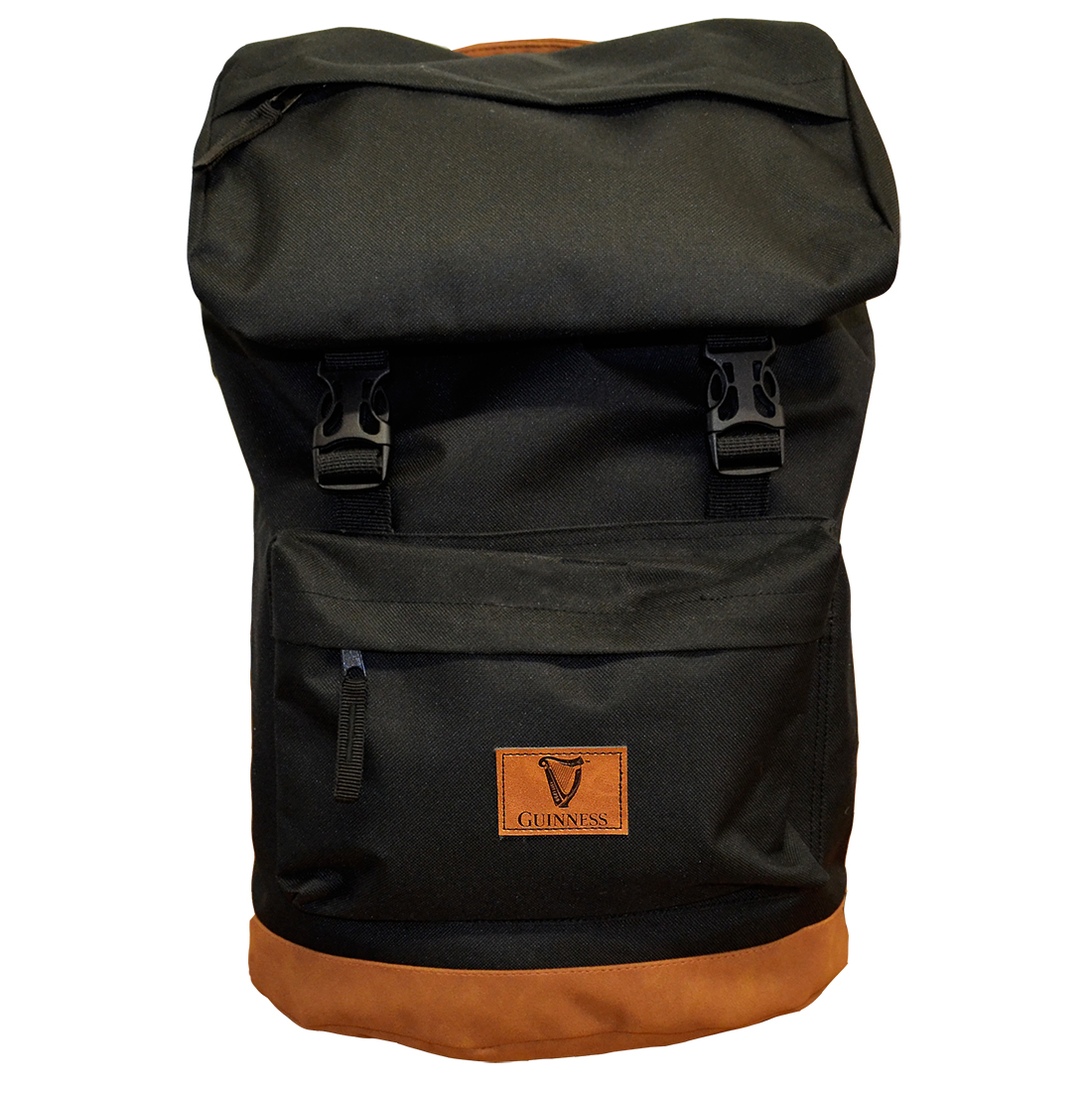 BLack Guinness Suede Base Backpack by