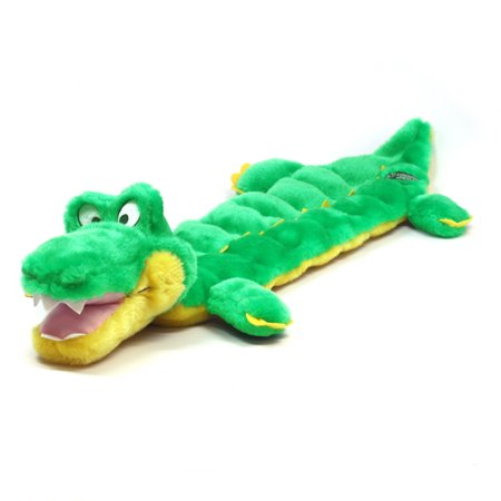Squeaker Matz Dog Squeaky Toy Multi-Squeaker Toy for Dogs by Outward Hound, Long Body 16 Squeaker, Gator