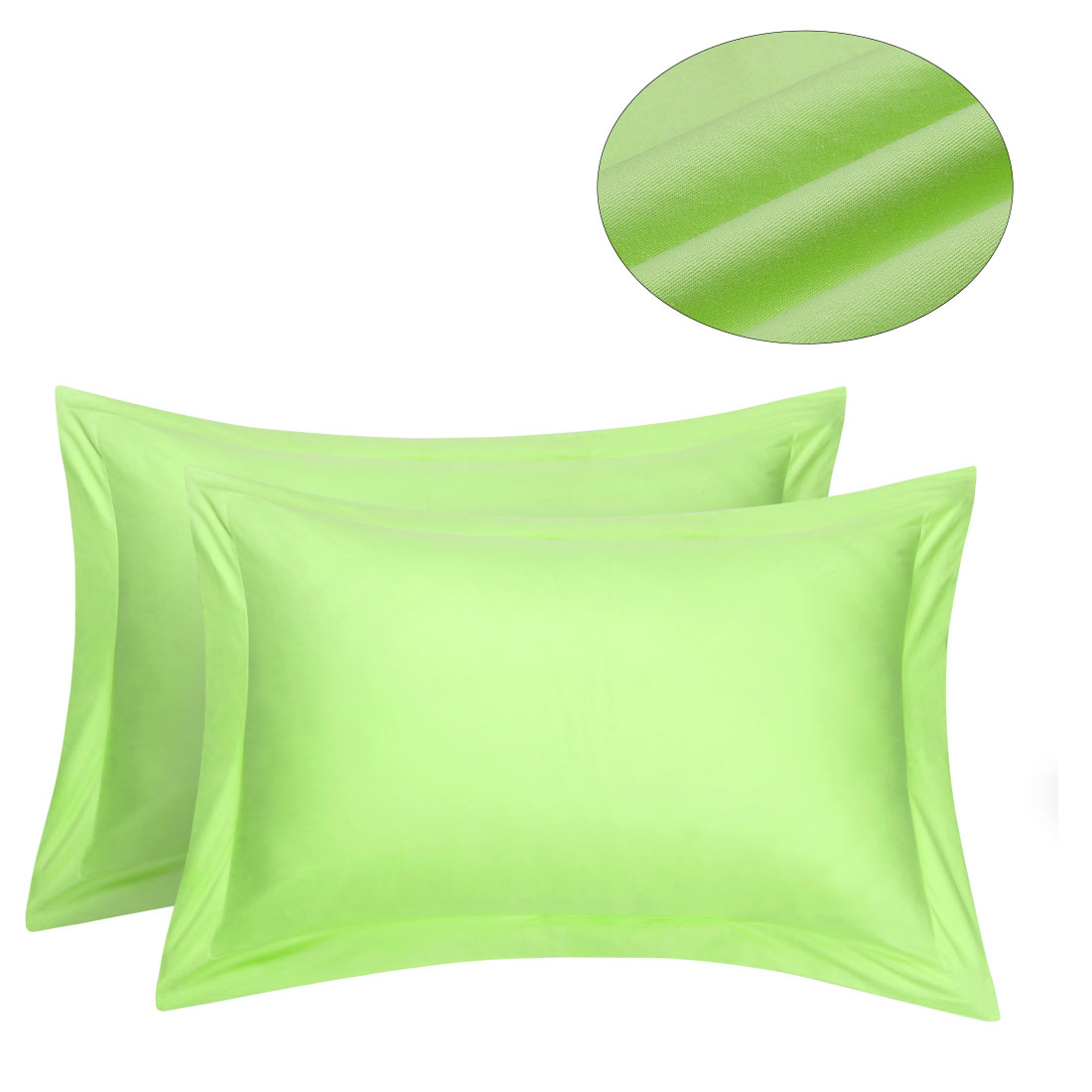 Bedroom Egyptian Cotton Pillow Shams Case Cover Pillowcase Protector Green 20 X 30 Inch Set Of 2 Bedding For Home Walmart Com Walmart Com