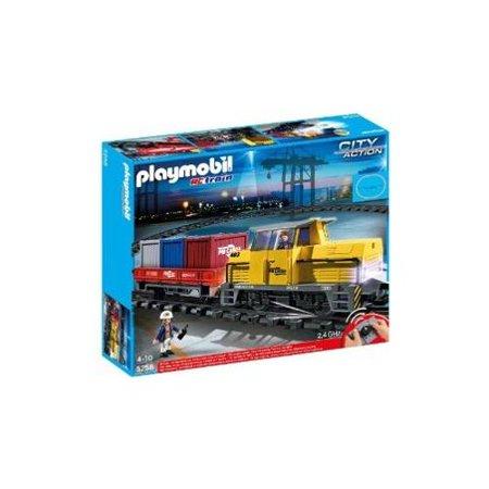 Playmobil city action rc freight train set 5258 - Train playmobil ...