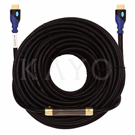 HDMI Cable,KAYO High Speed HDMI Cable (w/Signal Booster) CL3 Rated Cord HDMI2.0b Supports Full 4K@60Hz, UHD, 3D, 2160p, Ethernet, ARC,(Latest Version) HDCP 2.2 Compliant-(100FT + Signal Booster)