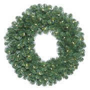 """Vickerman 36"""" Oregon Fir Artificial Christmas Wreath with 100 Warm White LED Lights"""