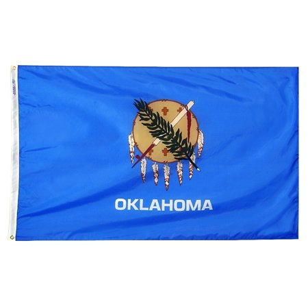 Oklahoma State Flag 3x5 ft. Nylon Official State Design Specifications.