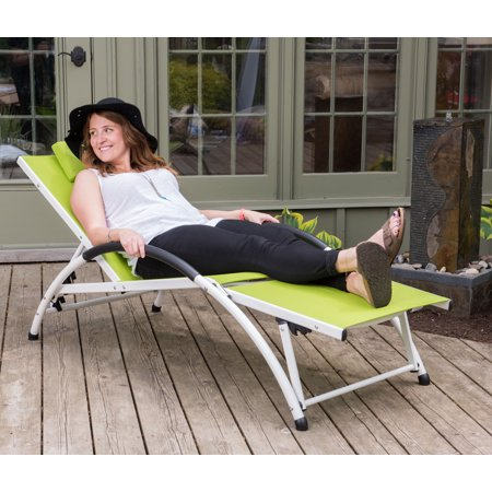 Dockside Sun Lounger - Aluminum(Green Apple) ()