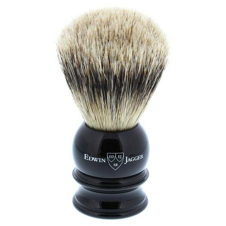 Edwin Jagger Silver Tip Badger Shaving Brush, Medium, Black