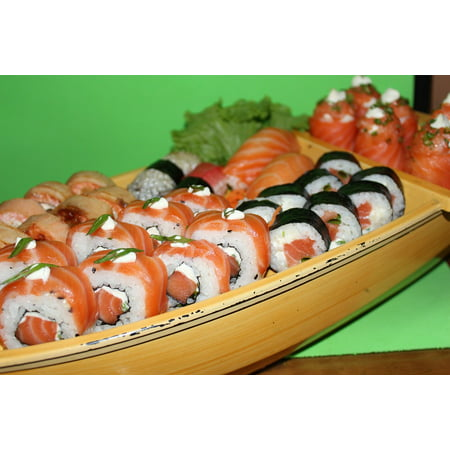 Peel-n-Stick Poster of Combo Oriental Barca Combined Japanese Food Sushi Poster 24x16 Adhesive Sticker Poster Print (Oriental Sushi)