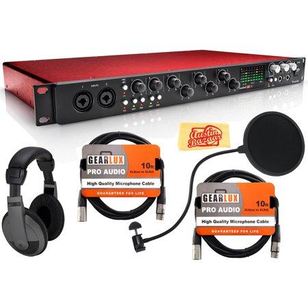focusrite scarlett 18i20 usb audio interface bundle with headphones pop filter 2 xlr cables. Black Bedroom Furniture Sets. Home Design Ideas