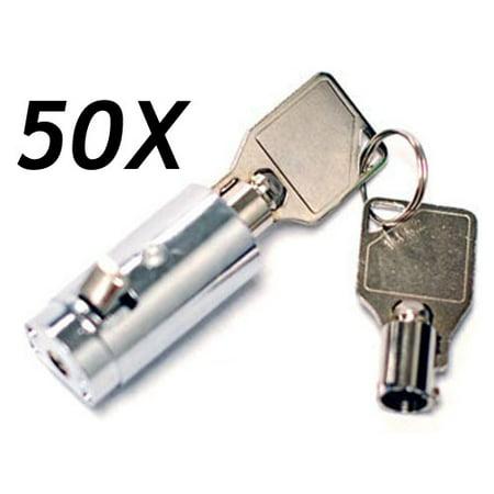 Vending-World - 50 - MEI-2501B-KA Vending Machine Lock with Tubular Keyway  and Chrome Finish, Keyed Alike