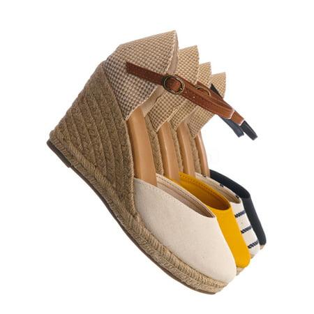 1a0a51a3d2c Bamboo - Timeoff01 by Bamboo, Espadrille High Heel Wedge - Women ...