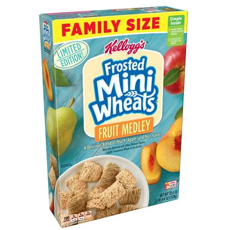 (2 pack) Kellogg's Mini-Wheats Cereal, Fruit Medley, 20.4 - Continental Medley