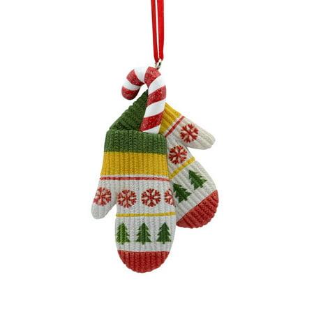 Hallmark Mittens with Candy Cane Ornament (Hallmark Candy)