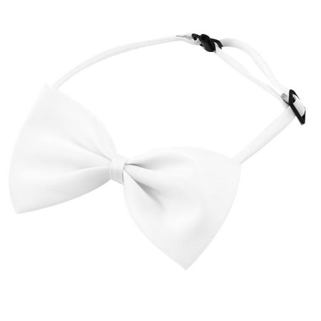 Unique Bargains Dog Cat Pet Collar Accessory Bow Tie Necktie White 2 Pieces Bow Jeweled Pet Collar
