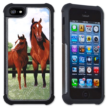 Apple iPhone 6 Plus / iPhone 6S Plus Cell Phone Case / Cover with Cushioned Corners - Horse Corral