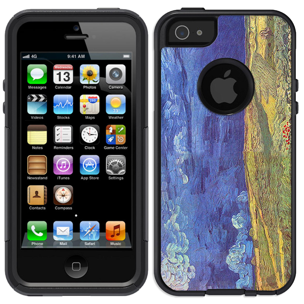 Skin Decal for OtterBox Commuter Apple iPhone SE Case - Van Gogh Wheatfield Under Clouded Sky
