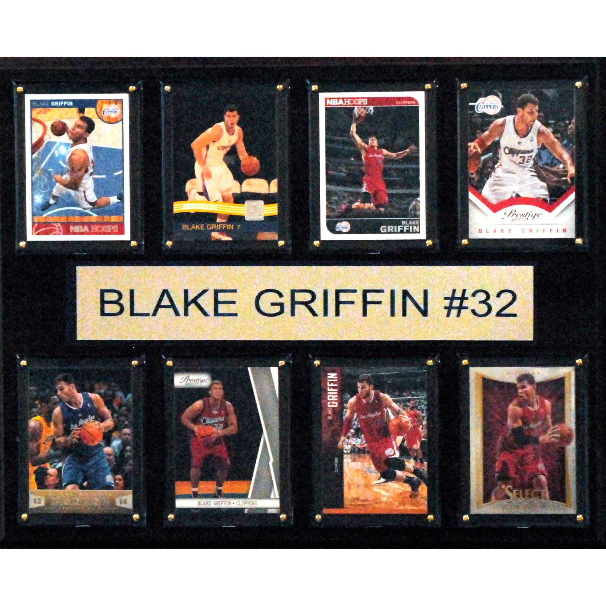 C&I Collectables NBA 12x15 Blake Griffin Los Angeles Clippers 8-Card Plaque