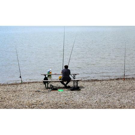 LAMINATED POSTER Catch Fish Fish Fishing Man Lake Water Angler Poster Print 24 x 36