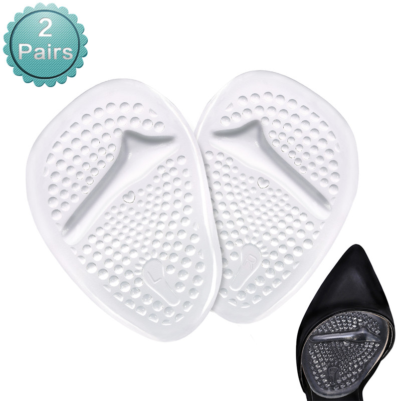Ball of Foot Cushions Metatarsal Pads For High Heels One Size Fits Shoe Inserts for Women 2 pairs Pain Relief Metatarsal Pads