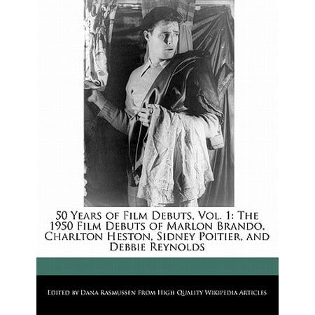50 Years of Film Debuts, Vol. 1 : The 1950 Film Debuts of Marlon Brando, Charlton Heston, Sidney Poitier, and Debbie Reynolds (Debbie Reynolds Halloween)