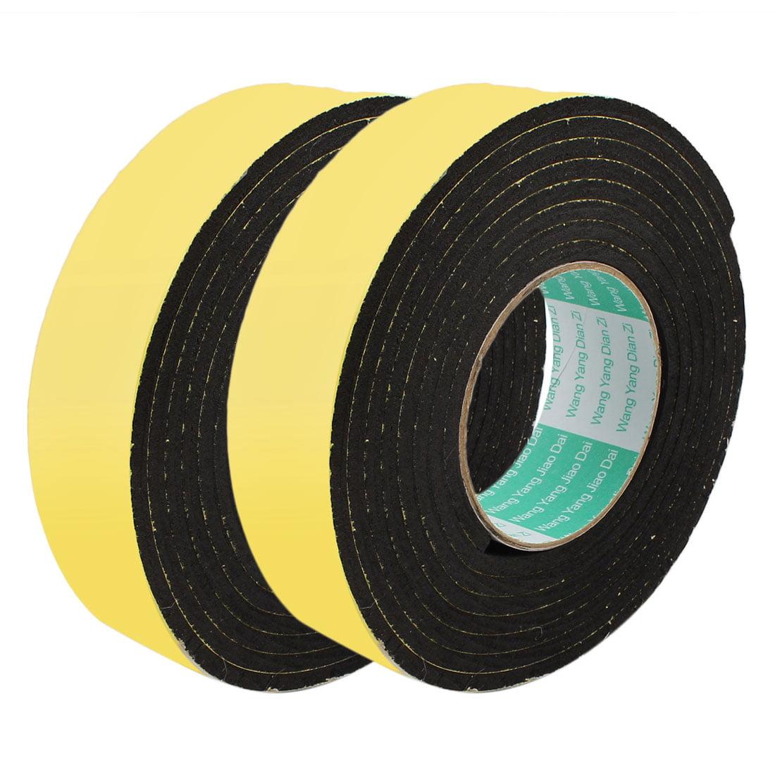2pcs 3Meter 40mm x 5mm Single-side Adhesive Shockproof Sponge Foam Tape Yellow